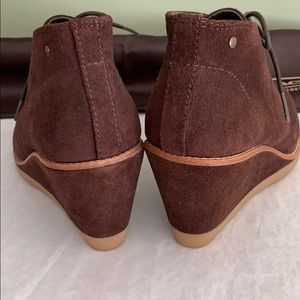 Coach Shoes - Authentic Coach Cassy Suede Wedge Ankle Boot